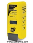 Hand-Sanitizer-Yellow-Manual-Dispenser