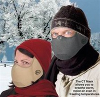 CT Mask, weather protection mask, warm face mask, warm air mask